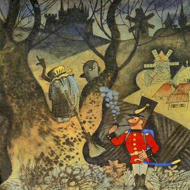 Иллюстрация к сказке Огниво