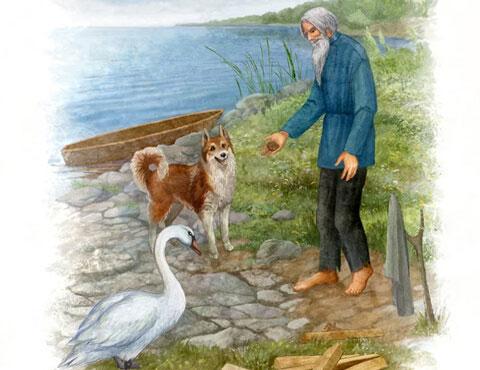 Иллюстрация к сказке Приемыш