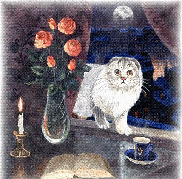 Иллюстрация к сказке С точки зрения кошки