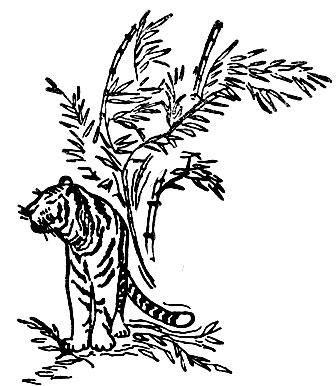 Иллюстрация к сказке Тигр и лиса