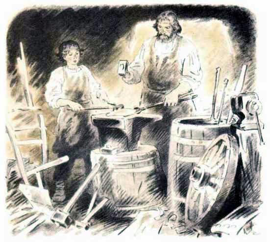 Иллюстрация к сказке Два плуга