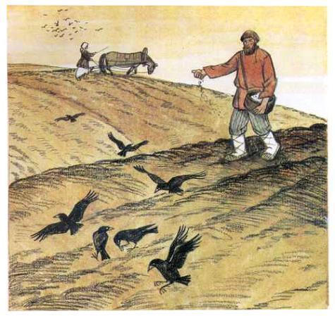 Иллюстрация к сказке Как рубашка в поле выросла