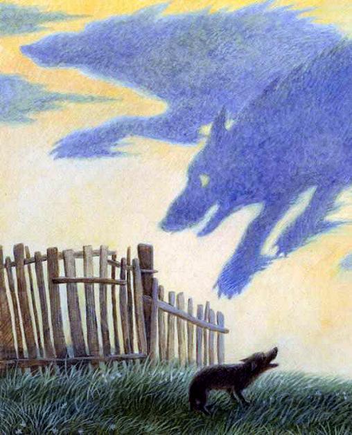 Иллюстрация к сказке Храбрая собака