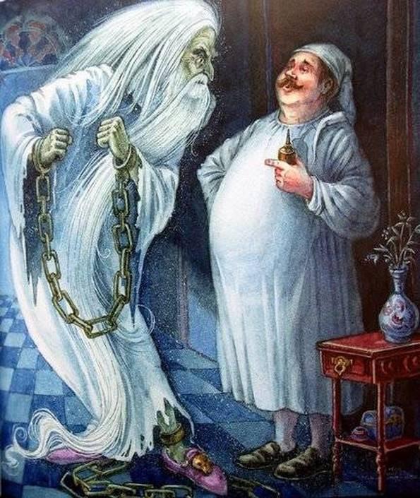 Иллюстрация к сказке Кентервильское привидение