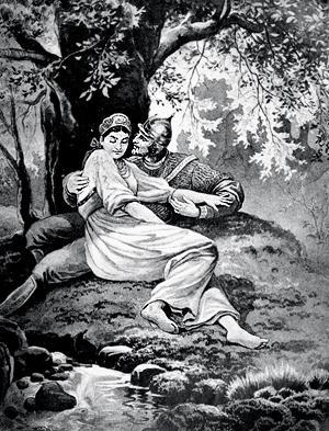 Иллюстрация к сказке Незабудка