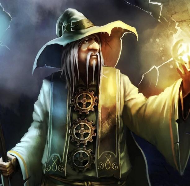 Иллюстрация к сказке Старый волшебник