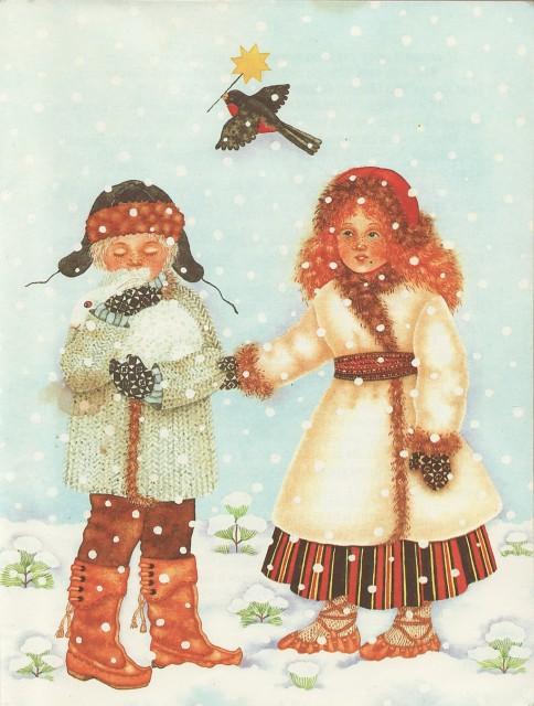 Иллюстрация к сказке Зимняя сказка