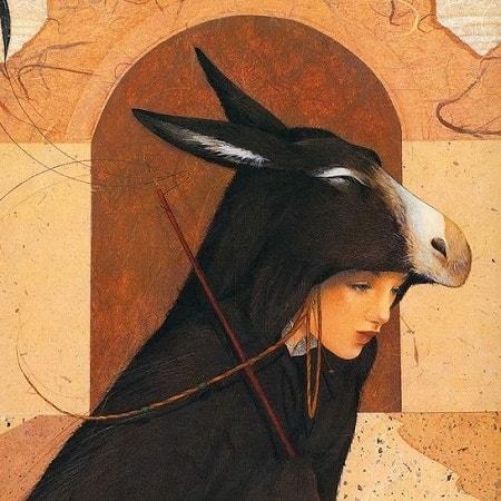 Иллюстрация к сказке Ослиная шкура