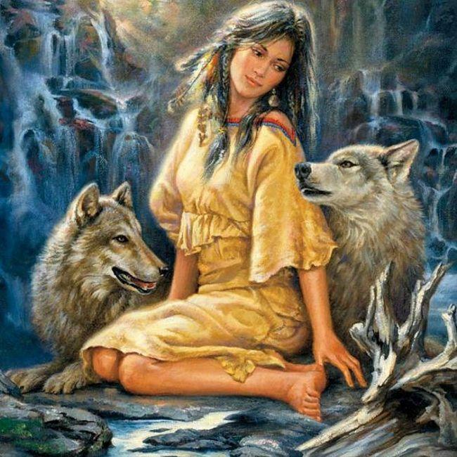 Иллюстрация к сказке Гордая красавица